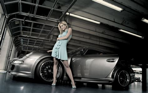 60 Sexy Cars And Girls Wallpaper And Pictures