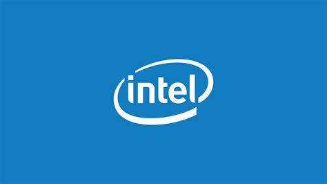 intel logo wallpaper  blue  white paperpull
