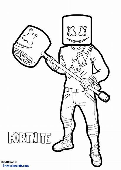 Fortnite Coloring Pages Printable Marshmallow Head Season