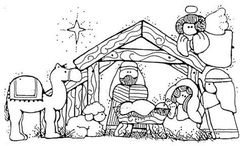 Jesus Nativity In Cartoon Depiction Coloring Page