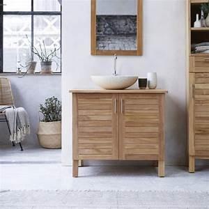 Meuble Vasque Bois Salle De Bain : meubles salle de bain en teck soho solo meuble sous vasque ~ Teatrodelosmanantiales.com Idées de Décoration