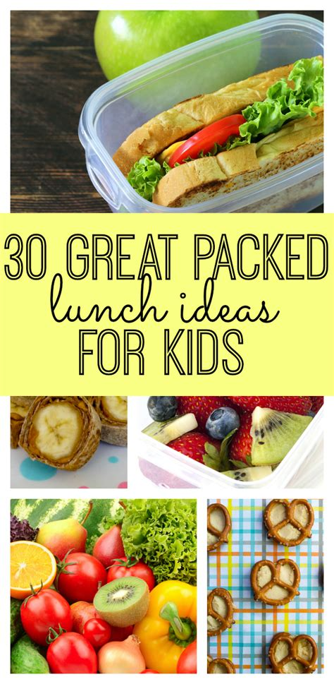 30 Great Packed Lunch Ideas For Kids