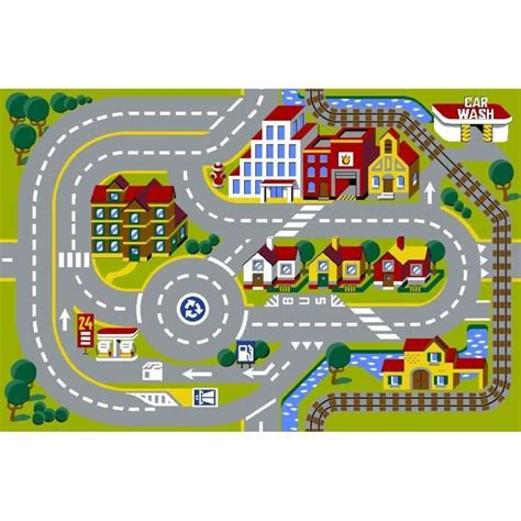 Tapis Enfant Circuit Tapis Circuit Voiture City Modular Achat Vente Tapis De Jeu Cdiscount