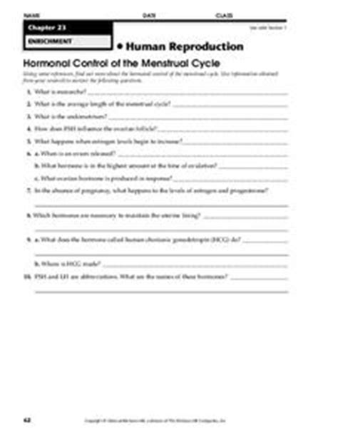 human reproduction worksheet for 9th higher ed lesson planet