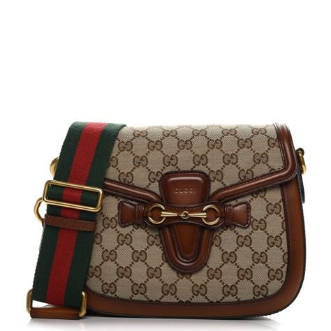 gucci monogram medium lady web shoulder bag brown