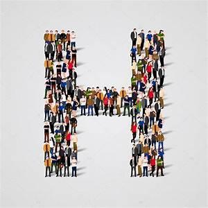 Große Deko Buchstaben : gro e gruppe von menschen in form des buchstaben h stockvektor 87974496 ~ Markanthonyermac.com Haus und Dekorationen