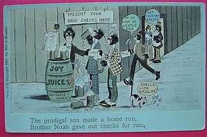 "Vintage Negro Humour Postcard ""The Prodigal Son Made A ..."