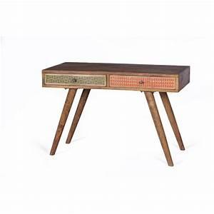 Schreibtisch Holz Natur : holz schreibtisch aus sheshame mit schubladen ~ Frokenaadalensverden.com Haus und Dekorationen