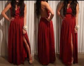 Red Long Tight Fitted Prom Dresses