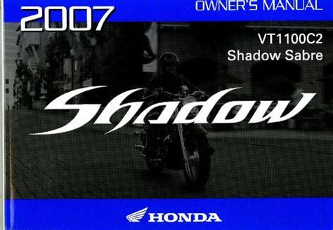 honda vtc shadow sabre motorcycle owners manual