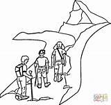 Colorat Coloring Hiking Mountain Munte Vara Camp Plansa Planse Printable Excursie Peisaje Pe Cabra Google Forest Malvorlage Wanderschuh Montanha Sheets sketch template