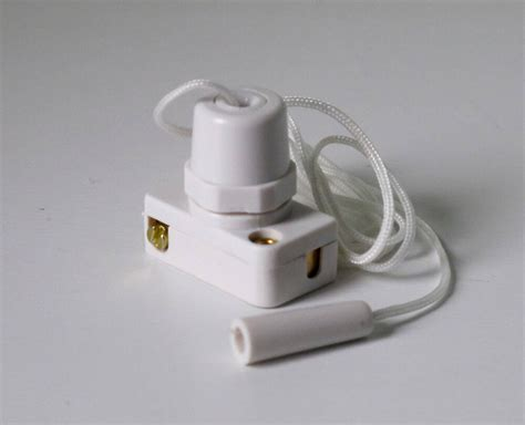 wall light replacement small pull cord switch all in white ebay