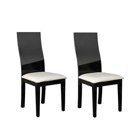 chaise noir et blanc design chaise de salle a manger noir et blanc