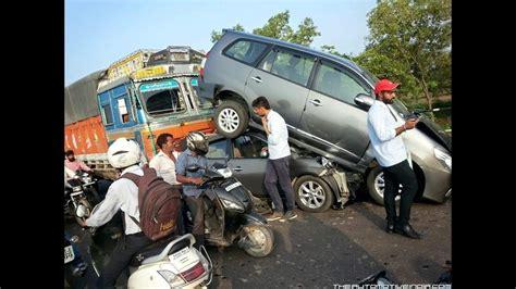 Horrible Truck Vs Car Dangerous Accident In Punjab Highway