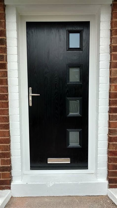 black composite door fitted  bilsthorpe bespoke door