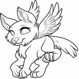 Wolf Pup Drawing Coloring Winged Getdrawings sketch template