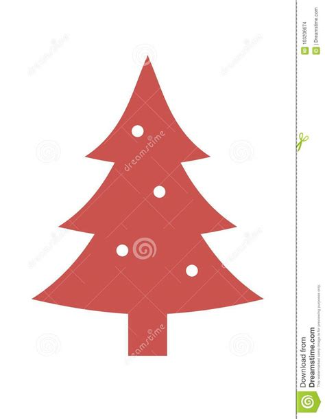 silueta de árbol de navidad ejemplo rojo icono de la silueta 225 rbol de navidad stock de ilustraci 243 n ilustraci 243 n de