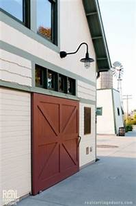 sliding red barn door traditional exterior los With barn door hardware los angeles