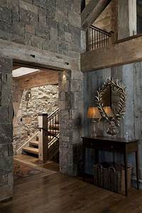 best 25 interior stone walls ideas on pinterest stone With barn wood walls inside house