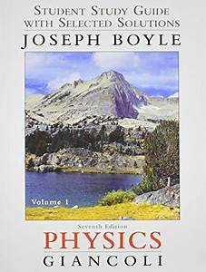 Student Study Guide For Physics Principles Volume 1