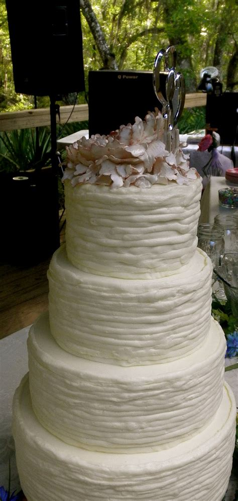 Sweet Ts Cake Design Shabby Chic Peony Rustic Wedding Cake