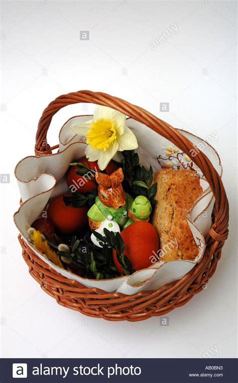 traditional easter food traditional polish blessed easter food in basket stock photo royalty free image 7277714 alamy