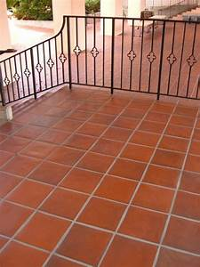 Quarry Tile Pavers Mediterranean Patio By