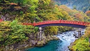 Sacred, Shinkyo, Bridge, In, Nikk, U014d, During, Fall, Season, Tochigi