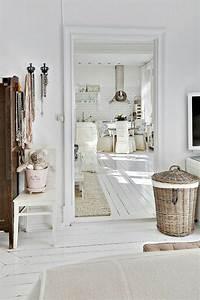 le parquet blanc une jolie tendance deco archzinefr With parquet blanchi scandinave