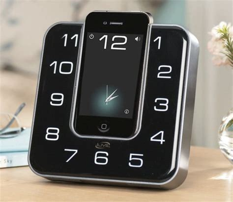 iphone alarm clock ilive clock radio is one looking iphone dock ubergizmo
