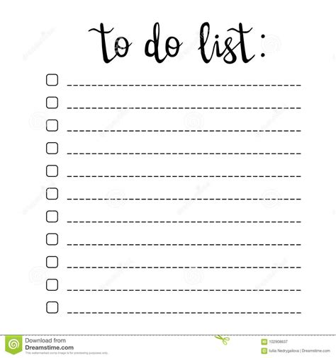 hand writing   list check boxes  lines stock