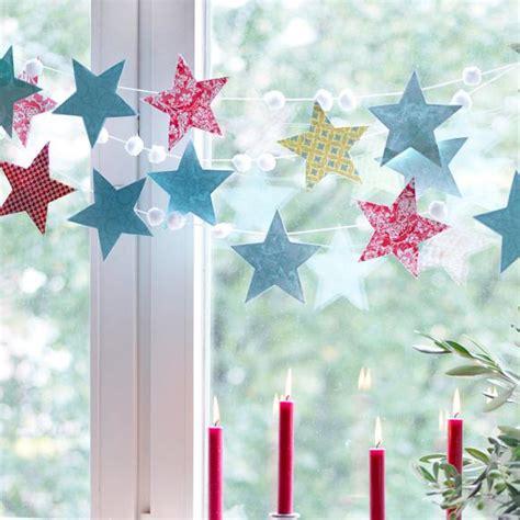 Weihnachtsdekoration Fenster Selber Machen by Girlande Aus Sternen Bild 30 Living At Home
