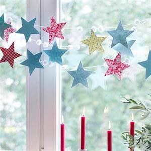 Fensterdeko Zum Aufhängen : girlande aus sternen bild 30 living at home ~ Frokenaadalensverden.com Haus und Dekorationen