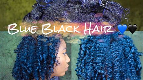 Dye Natural Hair Midnight Blue Black With Ion Color
