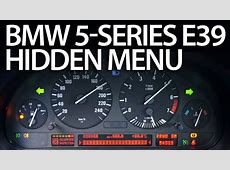 How to enter hidden menu in BMW E39 5series service test