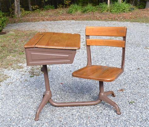 Antique Childrens Desk With Attached Chair  Desk Design Ideas