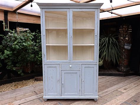 shabby chic painted kitchen cabinets antique vintage painted pine glazed kitchen cupboard 7911