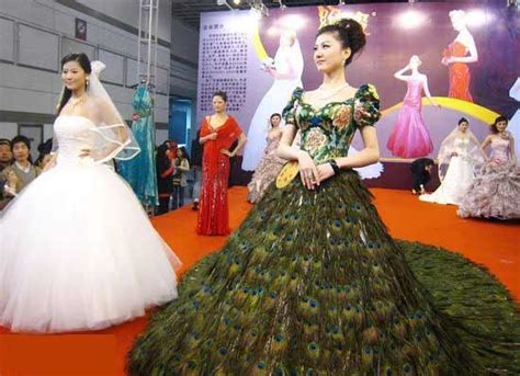 peacock feather wedding dresses designs wedding dress