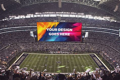 nfl stadium display mock   mockup templates