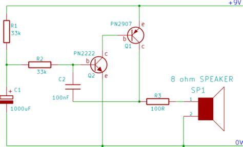 Tutorial Rising Pitch Siren Electronic Beginner Circuit