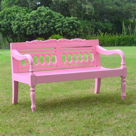 Jazty Kids Outdoor Painted Pink Bench At Hayneedle
