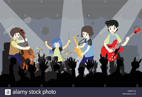 Cartoon Rock Band Stock Photos & Cartoon Rock Band Stock
