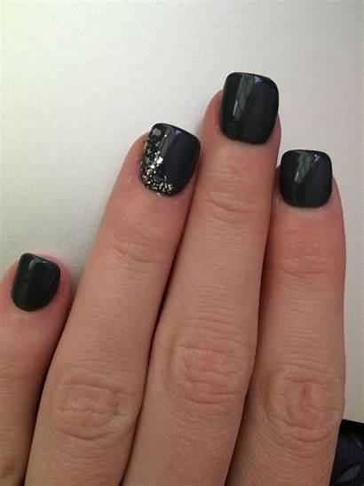 Nails Acrylic Grey Dark Colors Nail Designs