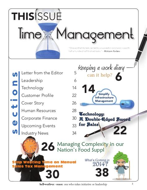 Bellwether Magazine from Blytheco - Time Management Issue ...