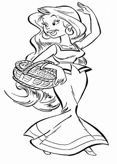 Asterix Coloring Pages Obelix Girlfriends Girlfriend Colouring