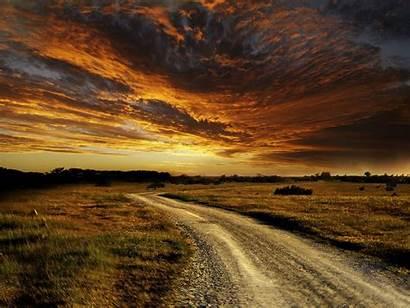 Road Prairie Desktop Scenery Scenic Country Open