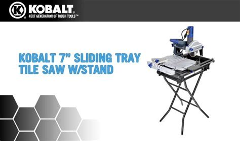 kobalt tile cutter you kobalt tools tile saw 0325792 7 in sliding tray tile