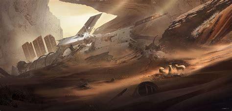 crash site fantasy mythology religious sci fi art