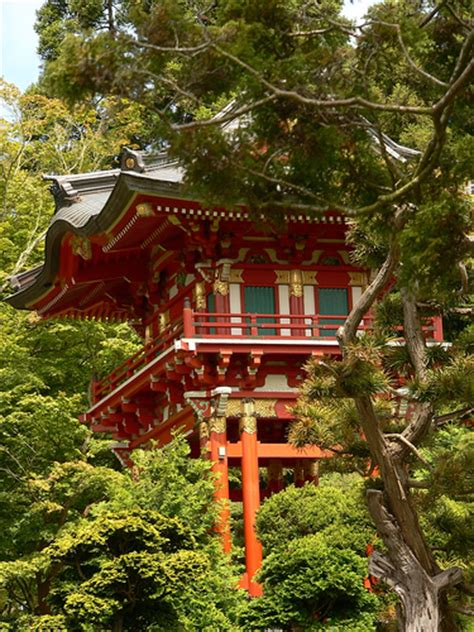 japanese tea garden pagoda flickr photo