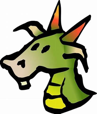 Dragon Head Clipart Icon Vector Drawing Domain